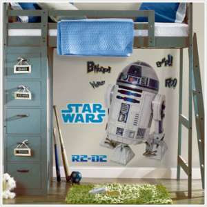 STAR WARS R2D2 Wall Stickers MuRaL R2 D2 BiG Decals NEW