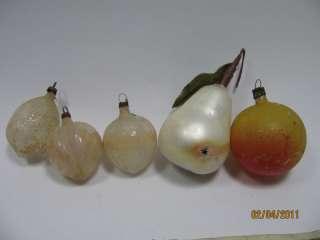 antique vtg glass xmas ornaments fruits
