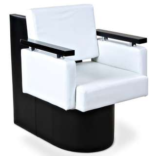 New Salon Spa White Dryer Chair w/ Wood Arms DC 15W