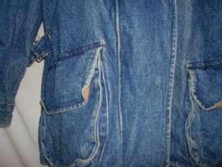 Womens Cambridge Dry Goods Denim Coat Size Medium