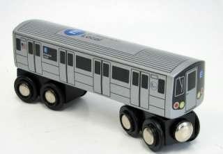 NYC Subway Toy Train E Train Wooden Railway Compatible