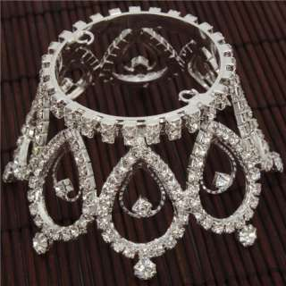 Waterdrop Style Rhinestone Crown Tiara Tiara Wedding Hair Tiara