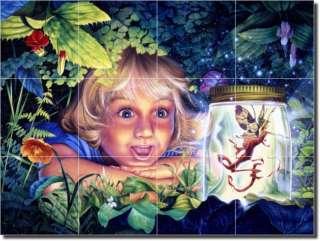 Eagle Fairy Fantasy Art Ceramic Tile Mural Backsplash