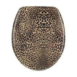 Leopard print Designer Melamine Toilet Seat Cover