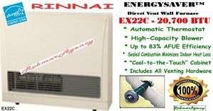 Rinnai   21,500 BTU Direct Vent Wall Room Heater  EX22C