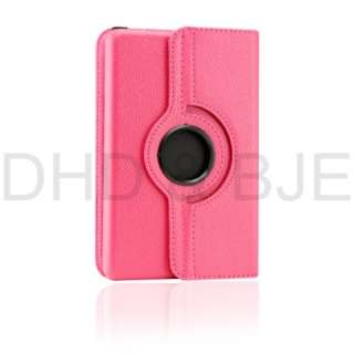 Kindle Fire 360° Degree Rotating Leather Case Cover Stylus