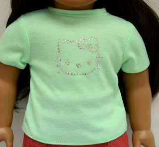 Doll Clothes fit American Girl & 18 Doll   cotton tee