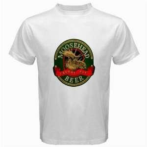 Moosehead Beer Logo New White T Shirt Size  S, M ,L , XL , 2XL , 3XL