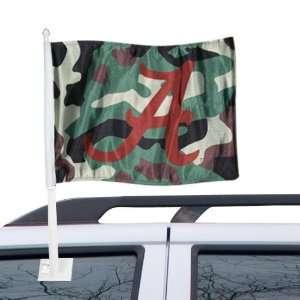 Alabama Crimson Tide Camo Car Flag