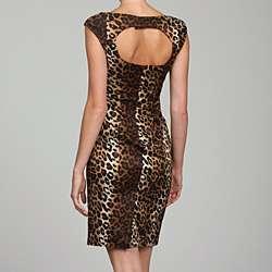 Jessica Simpson Womens Animal Print Dress