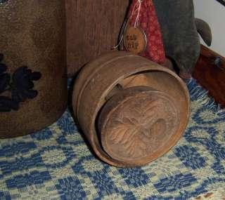 Antique Vtg Wood Strawberry Butter Press Stamp Mold