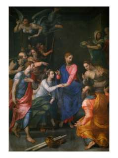 Christ, Raising of Jairus Daughter Giclee Print by Agnolo Bronzino at