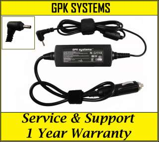 CAR CHARGER ASUS EEE PC 1015PEB 1015PED DC POWER CORD 590416655463