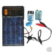 Solar Panel AA & 9v battery charger, 3,6,9,12 volt sup.