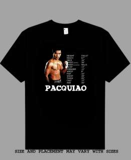 Manny Pacquiao Boxing Champion S   5XL t shirt