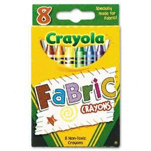 Crayola Products   Crayola   Fabric Crayons, 8 Colors/Box   Sold As 1