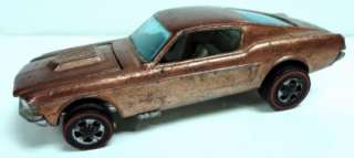 1968 Hot Wheels Redlines Custom Mustang Copper HK