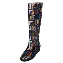 Fendi Womens Graffiti Rain Boots
