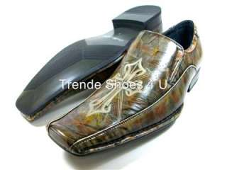 ALDO Mens Brown Cross Design Dress Casual Shoes NIB