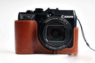 Vintage Genuine real Leather Half Camera Case bag cover for Canon G1X