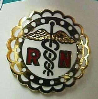 RN Registered Nurse Scalloped Medical Emblem Pin NIB