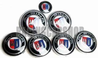 BMW ALPINA WHEEL CENTER CAPS + HOOD TRUNK EMBLEM 7PCS