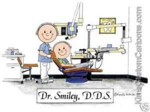CUTE* Personalized Dentist Cartoon Great Gift Idea!