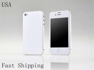 Carbon Fiber Vinyl Skin Sticker Cover Protector For Apple Iphone 4 4S
