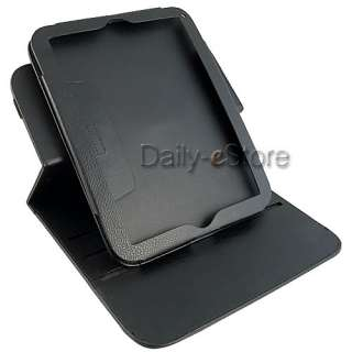Rotating Stand Leather Case Cover+Screen Protector for HP TouchPad