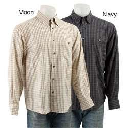 Axis Mens Multicolor Grid Plaid Dress Shirt