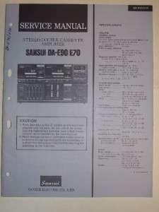Sansui Service Manual~DA E90/E70 Cassee Amplifier |