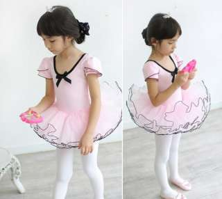 Leotard Ballet TuTu Skate Fairy Dance Skirt Costume Dress 3 8Y