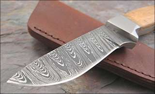 Hunter Damascus Style Finish Full Tang Wood Handles Knife NEW
