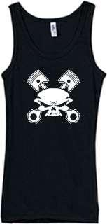 Shirt/Tank   skull & cross pistons   gear auto