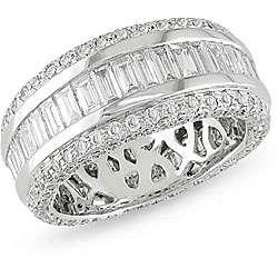 18k White Gold 3ct TDW Diamond Eternity Ring (F G, VVS VS)