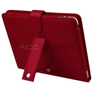 Accessory Bundles Red Leather Skin Case+Headset+Stylus+Guard+More