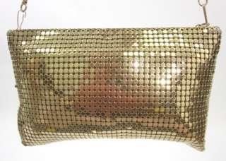 LYRELLA Gold Chain Mail Shoulder Clutch Small Handbag