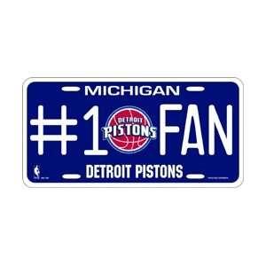 Detroit Pistons #1 Fan Metal License Plate *SALE*