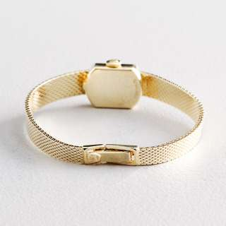 Ladies Rolex Vintage Deco Solid 14K Yellow Gold Diamond Watch