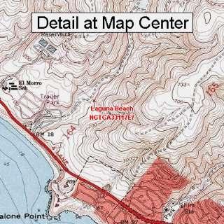 USGS Topographic Quadrangle Map   Laguna Beach, California (Folded