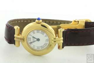 CARTIER COLISEE 18K GOLD STERLING SILVER VERMEIL LADIES WATCH