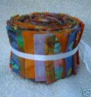MINI Batik Jelly Roll Cotton Fabric