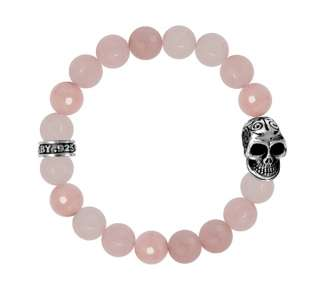 King QUEEN Baby studio 10mm Bracelet day dead SKULL 925