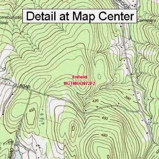USGS Topographic Quadrangle Map   Enfield, New Hampshire (Folded