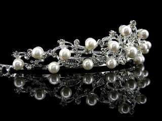 5cm High Exquisite Flower Leaf Pearl Wedding Bridal Flower Girl
