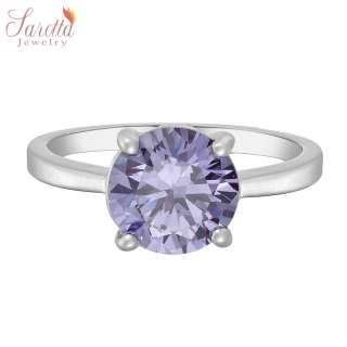 SALE Gift Tanzanite White Gold 18k Plated Ladies Ring Fashion Jewelry