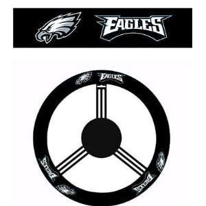Steering Wheel with Official NFL Licensed Logo   Philadelphia Eagles