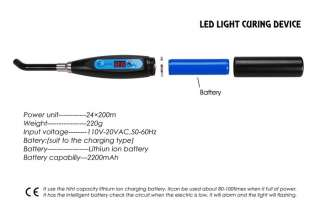 New 5W Wireless Cordless LED Dental Curing Light Lamp 5 colors