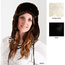 Marlo Lorenz Womens Upown Solid Faux Fur rapper Ha |