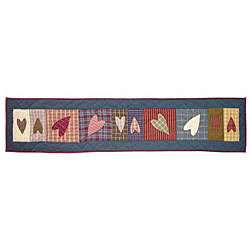 Primitive Hearts Table Runner